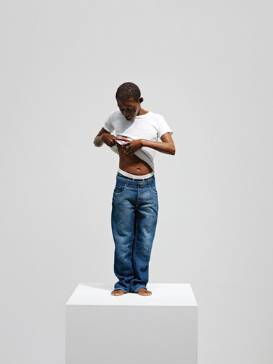 Ron Mueck, Youth, mixed media, 2009, 65 x 28 x 16 cm, Ed. 4/4 + 1 AP
