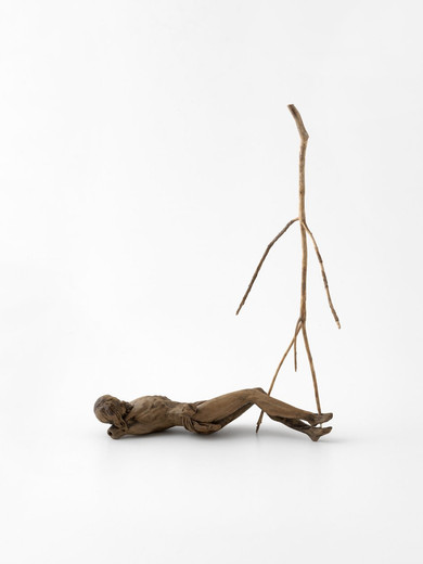 Kris Martin, Resurrection, found sculpture, wood piece, 2015, 36 x 7 x 24.5 cm, unique