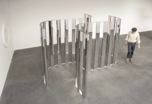 Jeppe  Hein, Parallel Sine Curve, high polished stainless steel and aluminium, 2018, 220 x 320 x 281 cm, II/II (3)