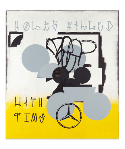 Johannes Wohnseifer, Holes filled with time, acrylic, lacquer on aluminium, 2011, 200 x 175 cm