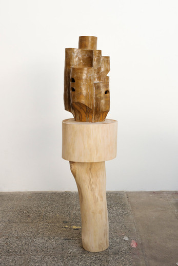 "<span class=""artists work-caption"">Michael Sailstorfer</span><span class=""title work-caption"">Altenheim für Nationalisten</span><span class=""technique work-caption"">ceramic, glaze, wood</span><span class=""year work-caption"">2016</span><span class=""dimensions work-caption"">69 x 40 x 43 cm</span><span class=""edition work-caption"">unique</span>"