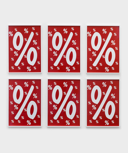 Annette Kelm, Percent for Art, c-print, 6 parts, framed, 2013, 70 x 50 cm, 5 + 2AP