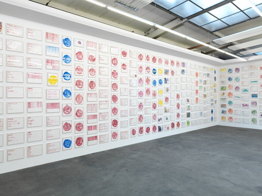 Jeppe Hein, Untitled (Ref: 912  Water colour drawings), 912 Aquarell auf Papier, gerahmt, 2011, Format variabel