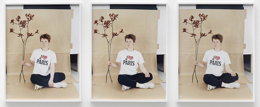 Annette Kelm, J'aime Paris, c-print, three parts, framed, 2013, each 76.5 x 60.5 cm; 30 x 23 3/4 in each 78.2 x 62.3 cm; 30 3/4 x 24 1/2 in, 4/6 + 2AP