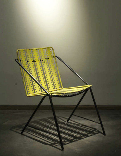 "Mathieu Matégot, ""Santiago"""" chair"", Rigiband, perforated steel, 1954, 76.5 x 52 x 66 cm"