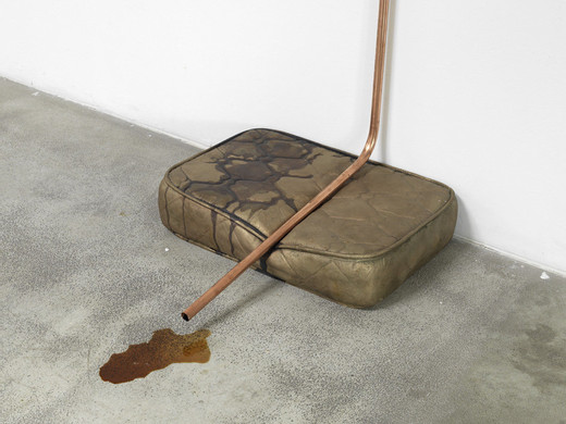 Tatiana Trouvé, Untitled, bronze, copper, coffee, iodine, 2010, 334 x 61.5 x 41 cm dimensions variable