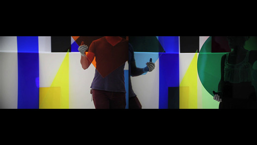 Amalia Pica, A∩B∩C∩A∩B∩C, Two-channel video projection with sound in cooperation with Rafael Ortega: 16:9, HD video, 2014, 5/5
