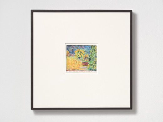 Rinus Van de Velde, The biggest compliment..., color pencil on paper, framed, 2019, 12.90 x 14.30 cm, unique