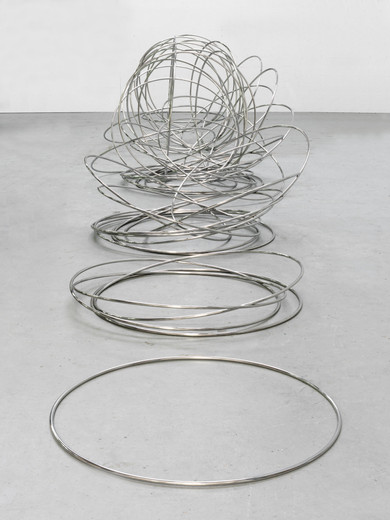 Alicja Kwade, 88 Seconds, stainless steel, 2017, dimensions variable, unique