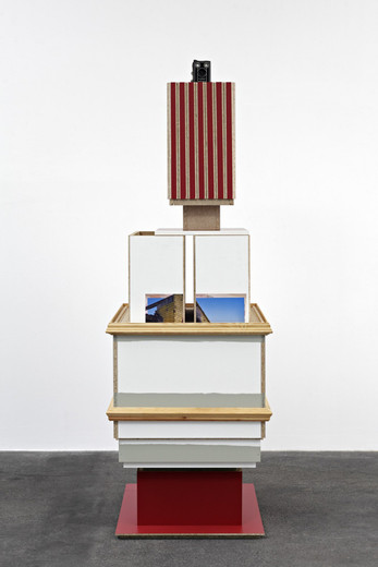 Jan de Cock, Tempio di Apollo, wood, photographs, copies, camera, 2010, 207.5 x 70 x 70 cm