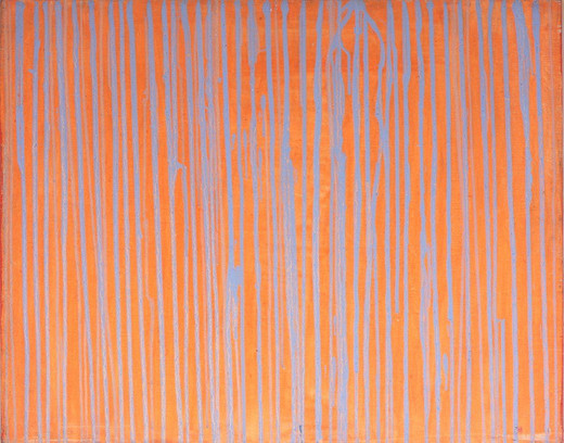 Manfred Kuttner, Spurweite, tempera, fluorescent paint on linen, 1962, 80 x 100.5 cm, unique