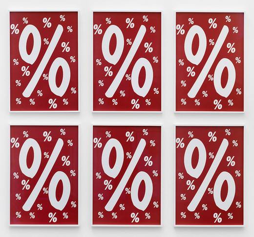 Annette Kelm, Percent for Art, c-print, 6 parts, framed, 2013, 70 x 50 cm, 4/5 + 2AP