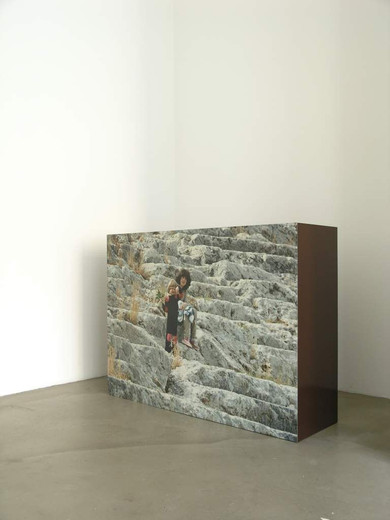 Michaela Meise, M, color copy, lacquer on wood, 2002, 135 x 100 x 40 cm