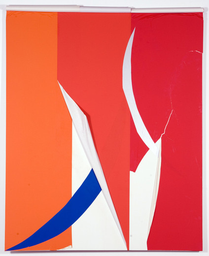 Henning Bohl, OTY, paper on primed canvas, 2008, 230 x 190 cm
