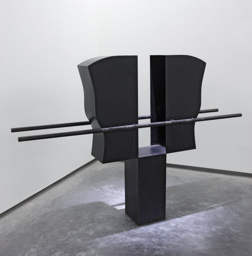 Pepe Espaliú, Carrying VI, Patinated iron sheet, 1992, 143.5 x 200 x 36 cm