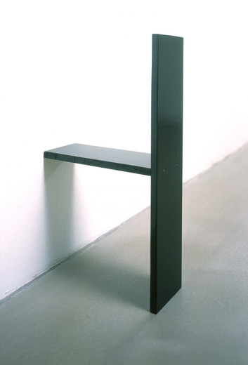 , Untitled, plywood, synthetic resin lacquer, 2003, 64 x 14 x 35 cm
