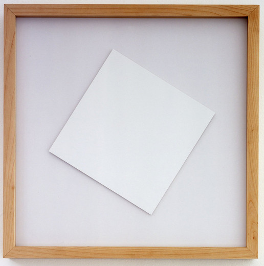 Jeppe Hein, Rotating Square, paper, wooden frame,electric motor, 2005, 21 x 21 cm, 5/5 + 2AP
