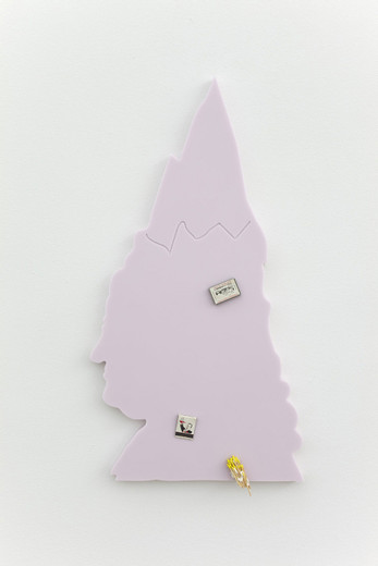 "<span class=""artists work-caption"">Helen Marten</span><span class=""title work-caption"">Hot Frost (strawberry ice )</span><span class=""technique work-caption"">Corian</span><span class=""year work-caption"">2012</span><span class=""dimensions work-caption"">85 x 45 x 3 cm</span>"