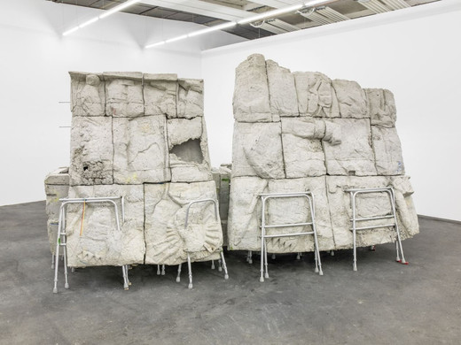 Justin Matherly, Sunrise, ambulatory equipment, concrete, 2013, 254 x 432 x 203 cm, unique