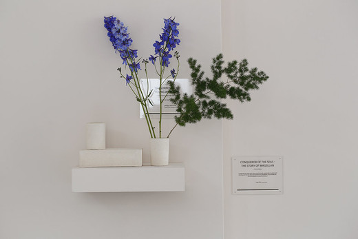 Camille Henrot, The Sorrows Of Young Werther, Johann Wolfgang von Goethe, ikebana, 2014, dimensions variable, unique