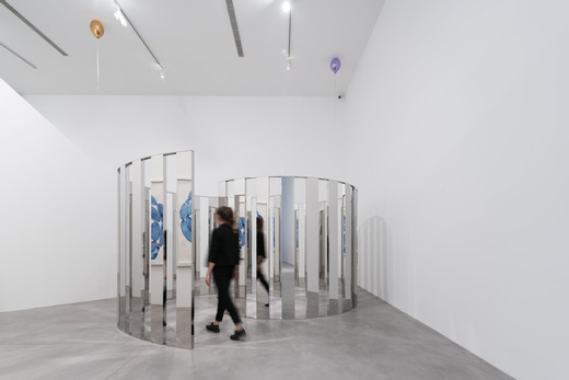 Jeppe Hein, Your Way, high polished stainless steel and aluminium, 2017, 222 x 430 x 305 cm, 3/3 + 2AP