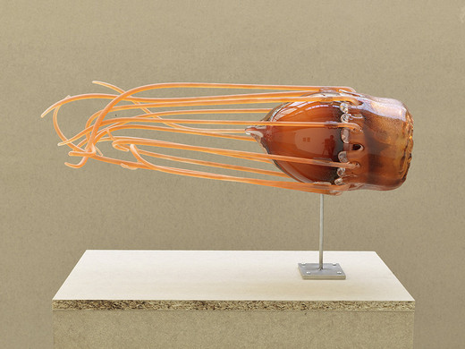 Tue Greenfort, Periphylla Periphylla III, glass, 2014, 22 x 90 x 22 cm, unique