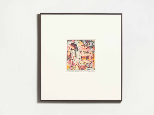 Rinus Van de Velde, I think something like this could work..., color pencil on paper, framed, 2019, 23.8 x 21 cm; 9 1/3 x 8 1/4 in 65.3 x 61.1 x 4 cm; 25 2/3 x 24 x 1 1/2 in , unique