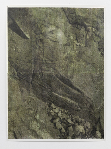 Justin Matherly, Untitled, inkjet monoprint sprayed with UV clear gloss protection, 2013, 96 x 70.5 cm, unique