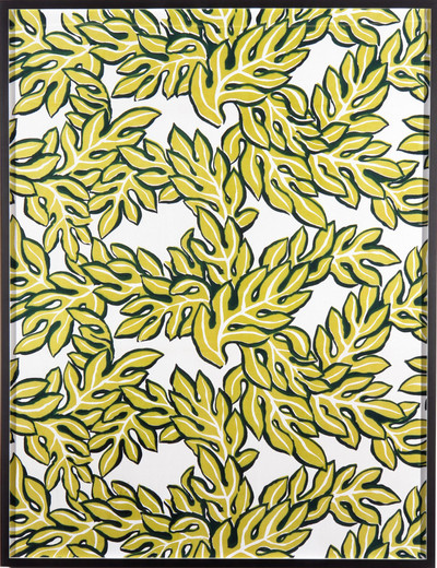 Annette Kelm, Big Print #6 (Jungle Leaves - Cotton Twill 1947 Design Dorothy Draper, Courtesy Schumacher & Co), c-print, 2007, 131.5 x 100.5 cm, 1/5 + 2 AP