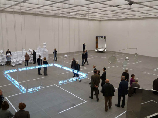 "<span class=""artists work-caption"">Jeppe Hein</span><span class=""title work-caption"">Please cross the line</span><span class=""technique work-caption"">Neonröhre, Transformatoren, Acryl</span><span class=""year work-caption"">2010</span><span class=""dimensions work-caption"">350 x 350 x 16 cm</span><span class=""edition work-caption"">1/3 + 2 AP</span>"