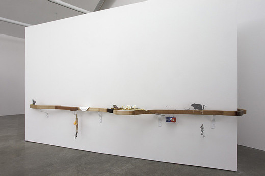 Helen Marten, Curved jointed wood handrail, 2013, 290 x 45 x 13 cm; 114 ¼ x 17 ¾ x 5 ¼ in 267 x 82 x 13 cm; 105 ¼ x 32 ¼ x 5 ¼ in