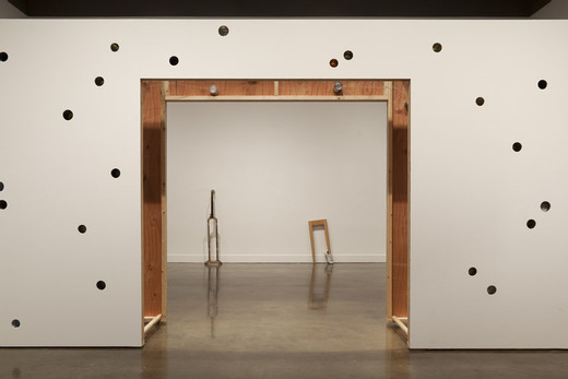 "<span class=""artists work-caption"">Amalia Pica</span><span class=""title work-caption"">If these walls could talk (with door)</span><span class=""technique work-caption"">wood, cans, screws, paint, adhesive, string</span><span class=""year work-caption"">2011</span><span class=""dimensions work-caption"">dimensions variable</span><span class=""edition work-caption"">1/3</span>"