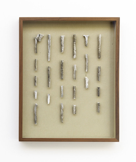Tue Greenfort, Concrete Stalactite II, stalactite, framed, 2014, unique