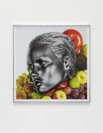 Kathryn  Andrews, Tutti Frutti Modern (Capra), aluminium, glass, ink, paper, 2019, Courtesy the artist, KÖNIG GALERIE Berlin / London, David Kordansky Gallery, Los Angeles, unique