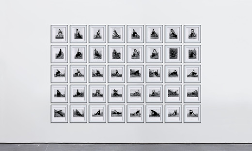 Marlon de Azambuja, Pennsylvania Coal Mines, on paper, 40 parts, 2016, 38 x 36 cm each, unique