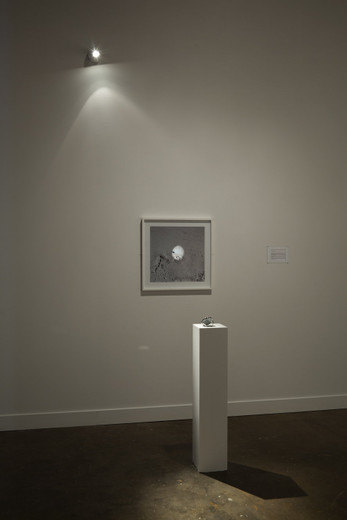 "<span class=""artists work-caption"">Amalia Pica</span><span class=""title work-caption"">Moon Golem</span><span class=""technique work-caption"">spotlight, mirror, pedestal, framed photograph, inkjet print on paper behind glass</span><span class=""year work-caption"">2009</span><span class=""dimensions work-caption"">dimensions variable</span>"