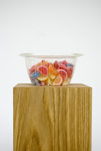 Darren Bader, (Ref: Candy box), plastic, candy, 7.62 x 12.7 x 15.24 cm, unique