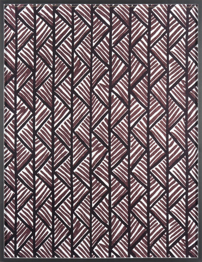 Annette Kelm, Big Print #1 (Lahala Tweed - Cotton Chevron Fall 1949 Design Dorothy Draper, Courtesy Schumacher & Co), c-print, framed, 2007, 130.5 x 100.5 cm, 5 + 2 AP