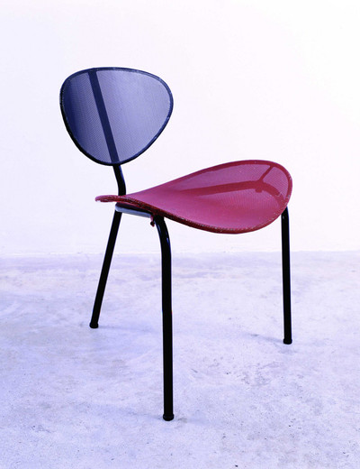 "Mathieu Matégot, ""Nagasaki"""" chair"", perforated steel, 1954, 56 x 60 x 71 cm"