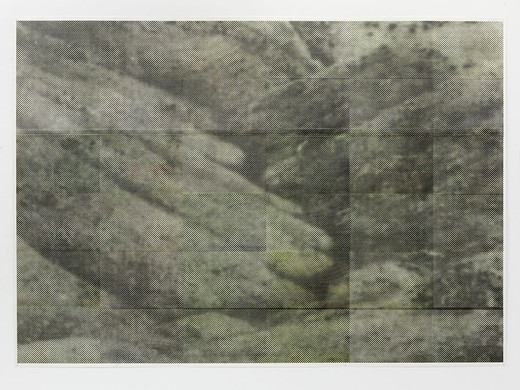 Justin Matherly, Untitled (community), inkjet monoprint sprayed with UV clear gloss protection, 2013, 185 x 262.5 cm, unique