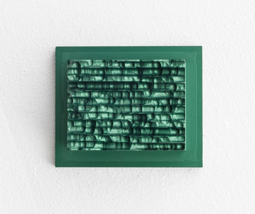 Johannes Wohnseifer, Aluminium Painting #15, machined aluminium, anodized, 2019, 10,5 x 12,7 cm, unique