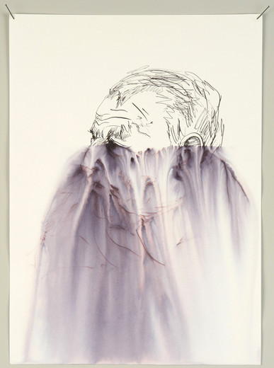 Kris Martin, Arthur, ink on paper, 2006, 106.68 x 74.93 cm