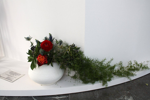 Camille Henrot, Cosmos: A Sketch Of The Physical Description Of The Universe, Vol. 1, Alexander Von Humboldt, ikebana, 2014, dimensions variable, unique
