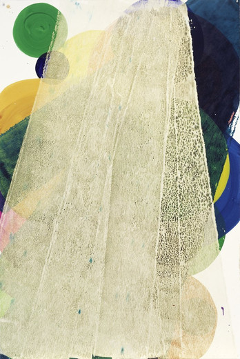 Katharina Grosse, o.T., acrylic on paper, 2006, 179.5 x 120.5 cm