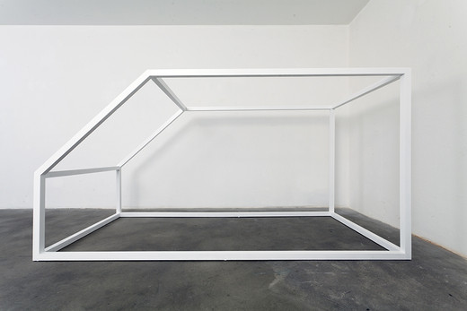 Jeremy Shaw, Untitled (Home Deprivation Study), birch, lacquer, 2010, 243 x 123 x 108 cm