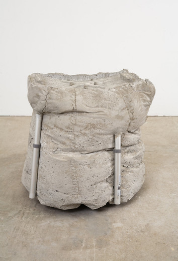 Justin Matherly, there are so many days that have not yet broken, ambulatory equipment, concrete, 2010, 58.42 x 63.5 x 63.5 cm, unique