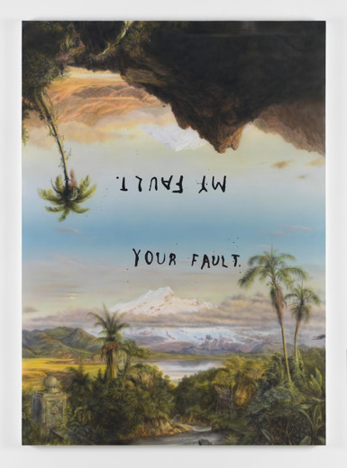 Friedrich Kunath, My Fault Your Fault, Acrylic on canvas, 2015, 84 x 60 x 1.50 in