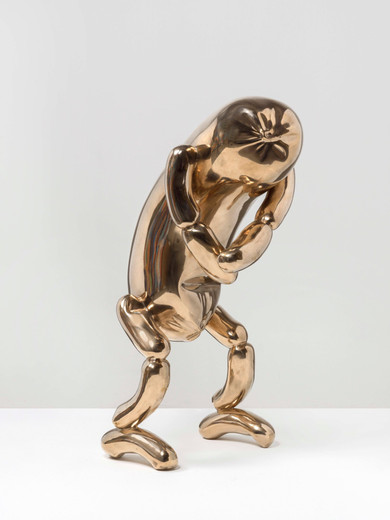 Erwin Wurm, Untitled, bronze, 2018, 80 x 34 x 42 cm