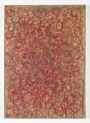 Manfred Kuttner, ros.ro, tempera on paper, mounted on pressboard, 1961, 91.5 x 66 cm