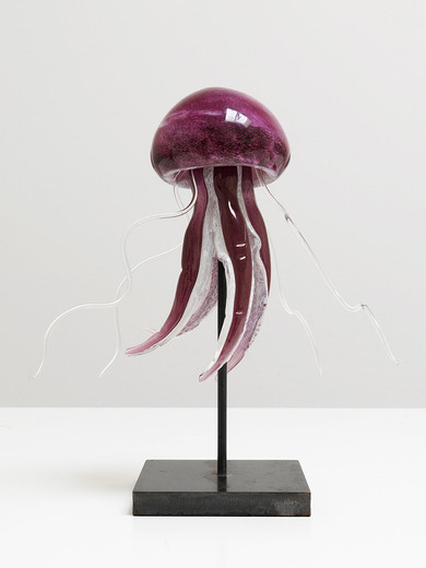 Tue Greenfort, MEDUSA, Murano glass, 2007/2014, 37 x 42 x 40 cm, unique